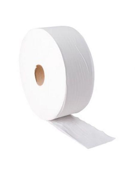 Papier hygiénique mini-Jumbo blanc 180 m (colis 12 rouleaux)