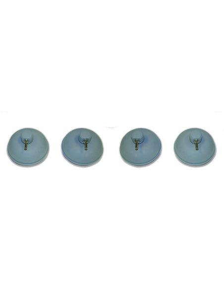 Electrodes vacuum de 60 mm en acier inoxydable