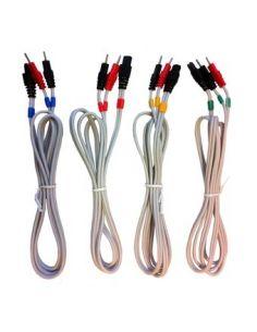 Jeu de 4 câbles électrodes fils COMPEX