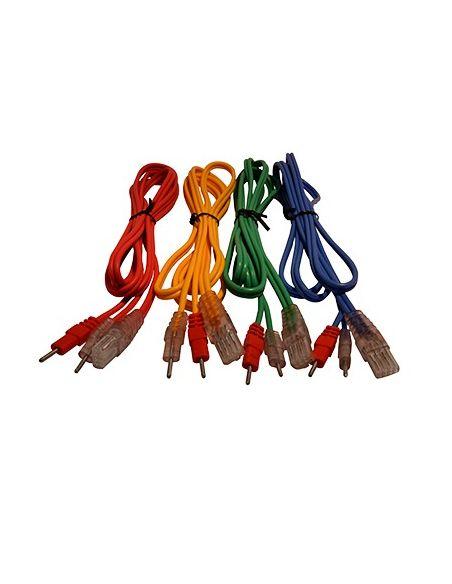 Jeu de 4 câbles pour électrodes à fil 8P