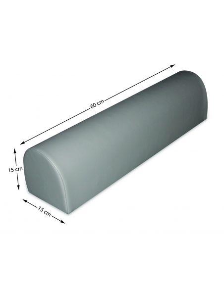 Coussin demi-cylindrique 60 x 15 x 15 cm