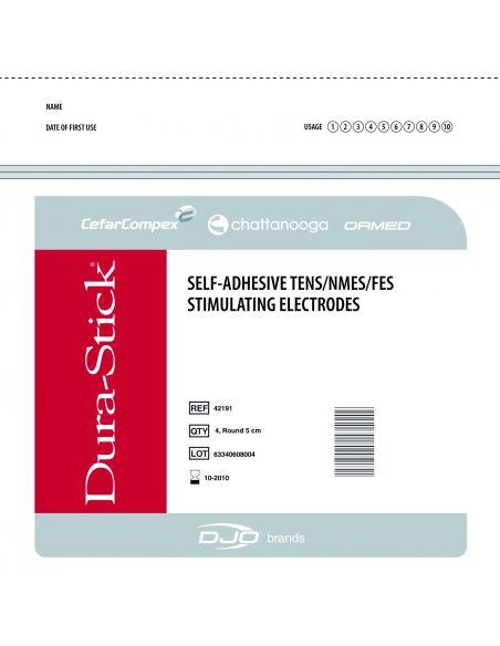 ELECTRODES DURA-STICK FIL CARRE 50X50mm (x4)