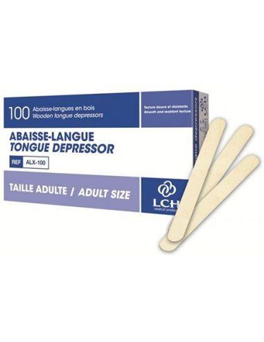ABAISSE LANGUE EN BOIS ADULTE 15 x 1,8 cm (Bte de 100)