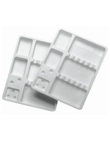 PLATEAUX USAGE UNIQUE AVEC COMPARTIMENT 14 X 18 cm (Par 400)