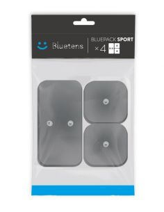Electrodes Bluetens Duo-Sport carré (x8) & rectangle (x4)